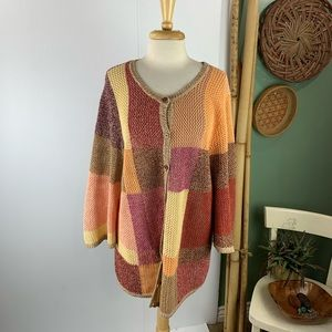 CJ Banks Womens Cardigan Sweater Button up Knitted